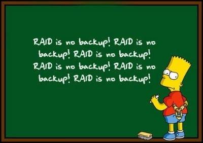 RAID کردن هارد ها یک نوع سیستم پشتیبان گیری یا Backup نیست
