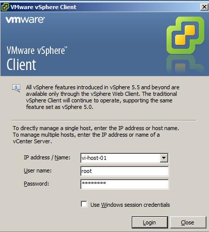 دانلود نرم افزار vSphere Client 6.0