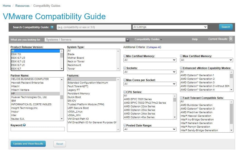تجهیزاتی که توسط شرکت vmware جهت نصب ESXi پشتیبانی میشوند